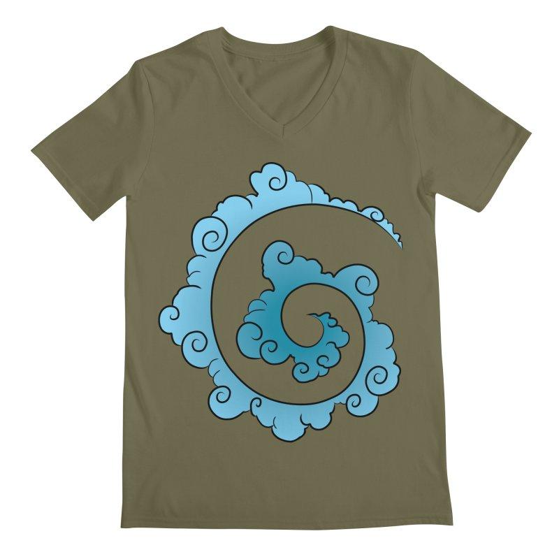 Cloud Spiral Men's Regular V-Neck by Natou's Artist Shop