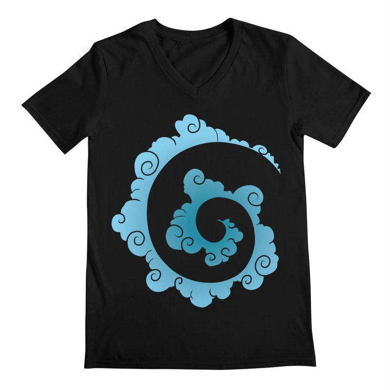 Cloud Spiral Men's Regular V-Neck by Natou's Artist Shop