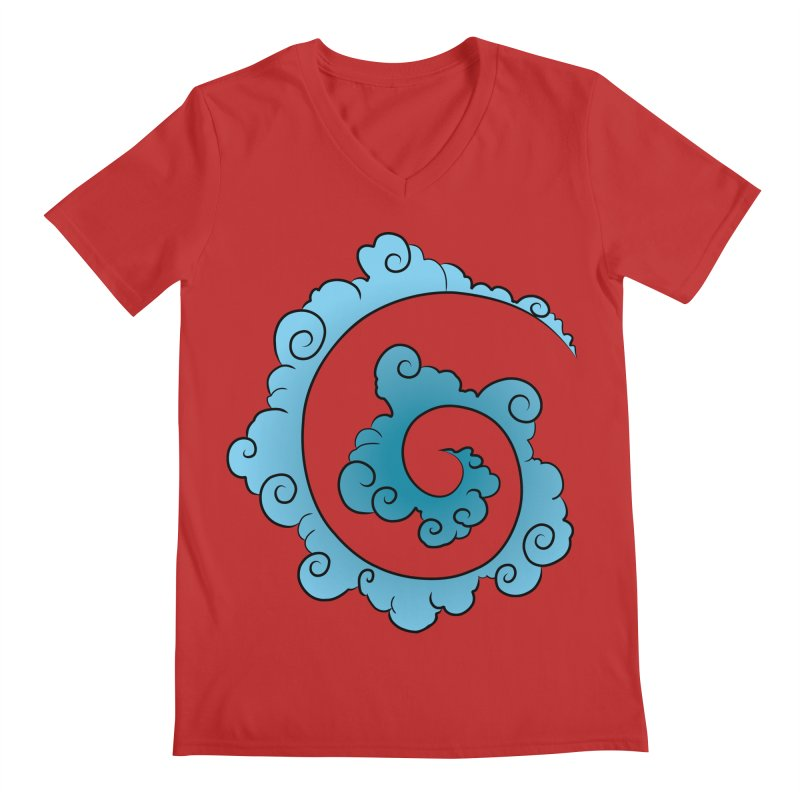 Cloud Spiral Men's V-Neck by Natou's Artist Shop