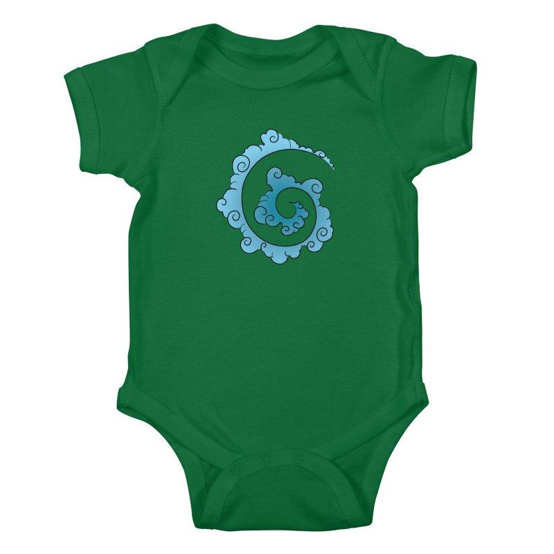 Cloud Spiral Kids Baby Bodysuit by Natou's Artist Shop