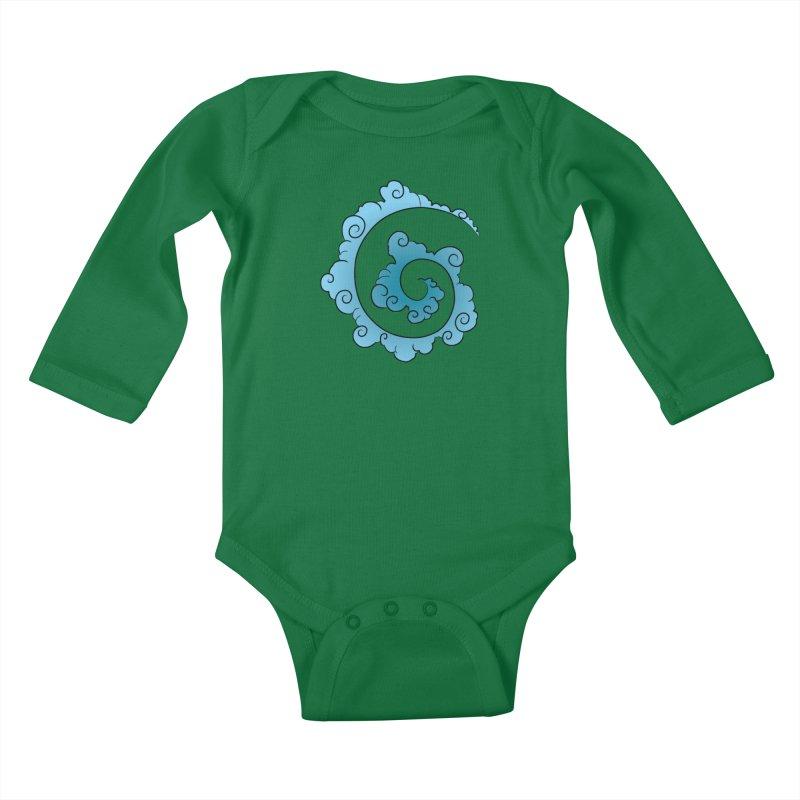 Cloud Spiral Kids Baby Longsleeve Bodysuit by Natou's Artist Shop