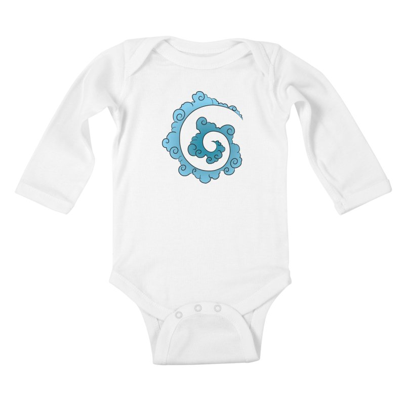 Cloud Spiral Kids Baby Longsleeve Bodysuit by Natou's Artist Shop