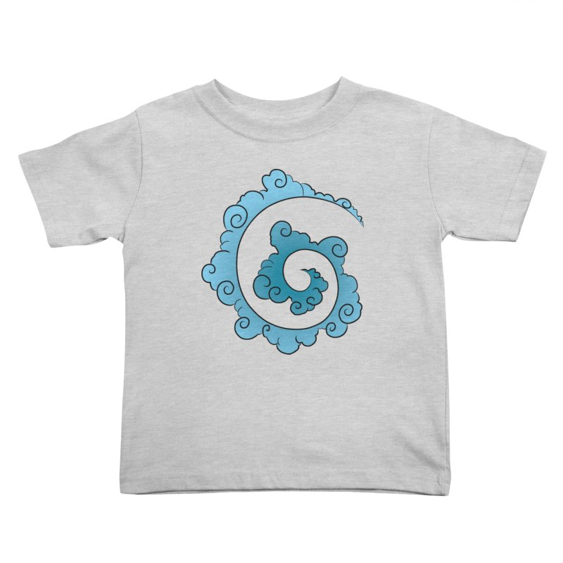 Cloud Spiral Kids Toddler T-Shirt by Natou's Artist Shop