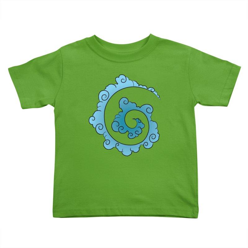 Cloud Spiral Kids Toddler T-Shirt by Natou's Artist Shop