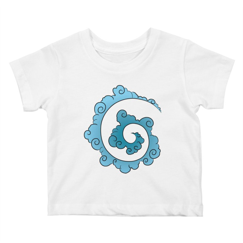Cloud Spiral Kids Baby T-Shirt by Natou's Artist Shop