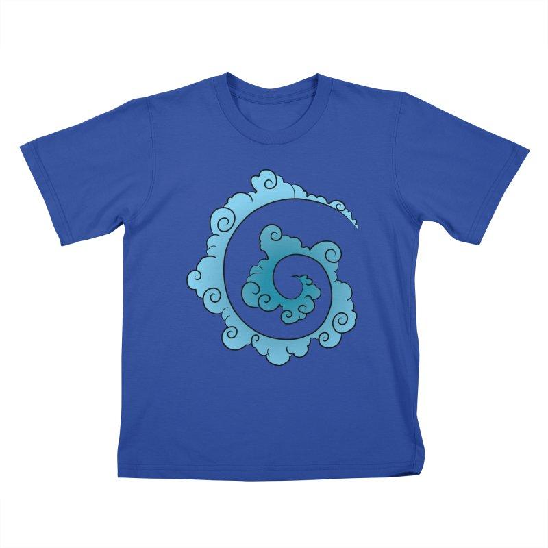 Cloud Spiral Kids T-Shirt by Natou's Artist Shop
