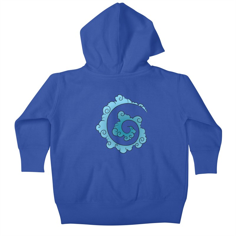 Cloud Spiral Kids Baby Zip-Up Hoody by Natou's Artist Shop