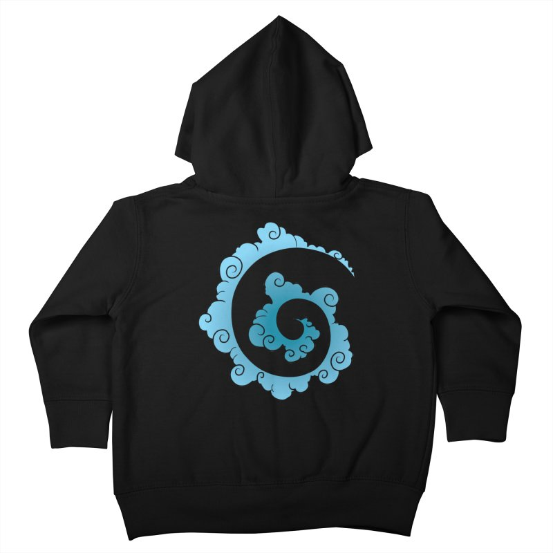 Cloud Spiral Kids Toddler Zip-Up Hoody by Natou's Artist Shop