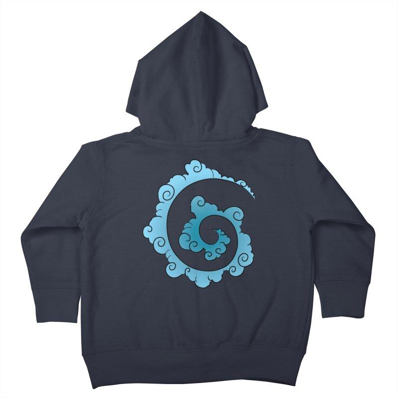 Cloud Spiral Kids Toddler Zip-Up Hoody by Natou's Artist Shop