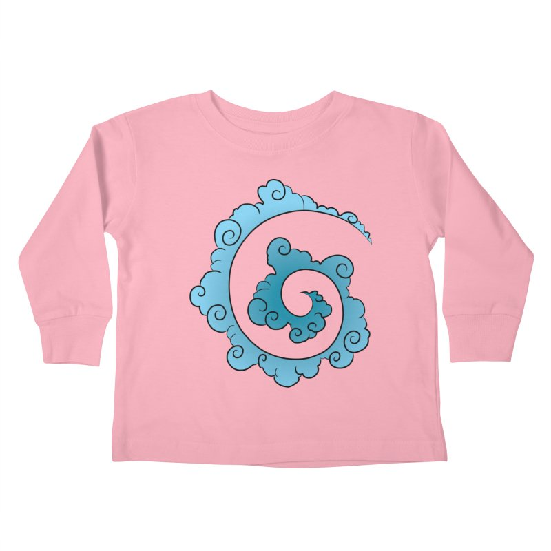 Cloud Spiral Kids Toddler Longsleeve T-Shirt by Natou's Artist Shop