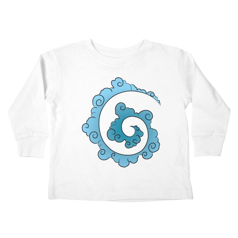 Cloud Spiral Kids Toddler Longsleeve T-Shirt by Natou's Artist Shop