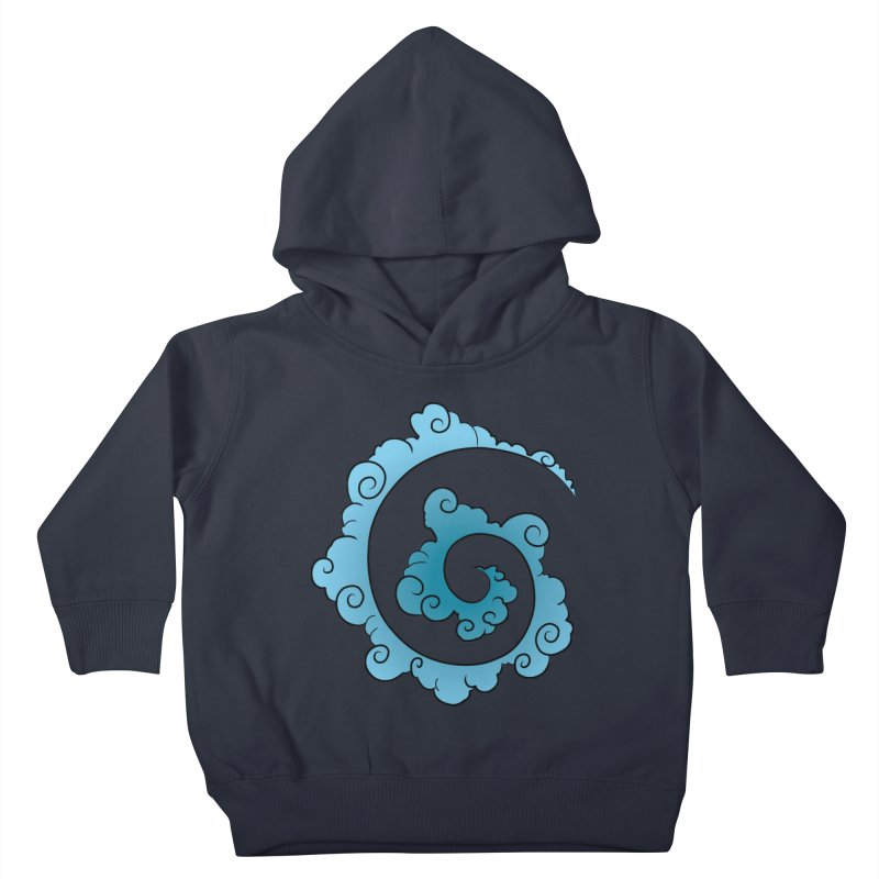 Cloud Spiral Kids Toddler Pullover Hoody by Natou's Artist Shop