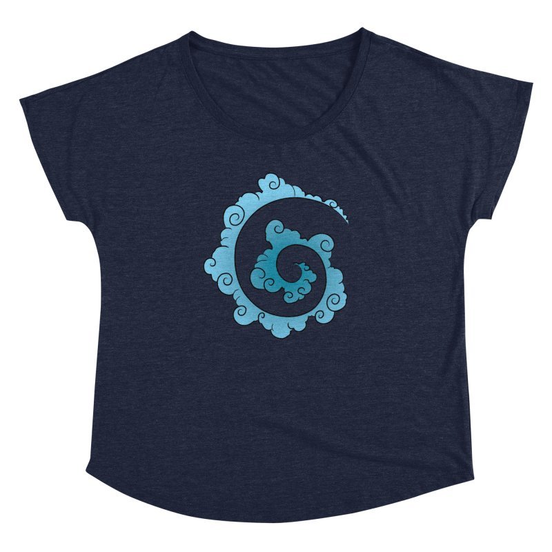 Cloud Spiral Women's Dolman Scoop Neck by Natou's Artist Shop