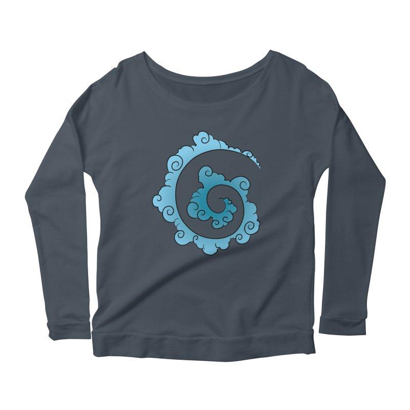 Cloud Spiral Women's Scoop Neck Longsleeve T-Shirt by Natou's Artist Shop
