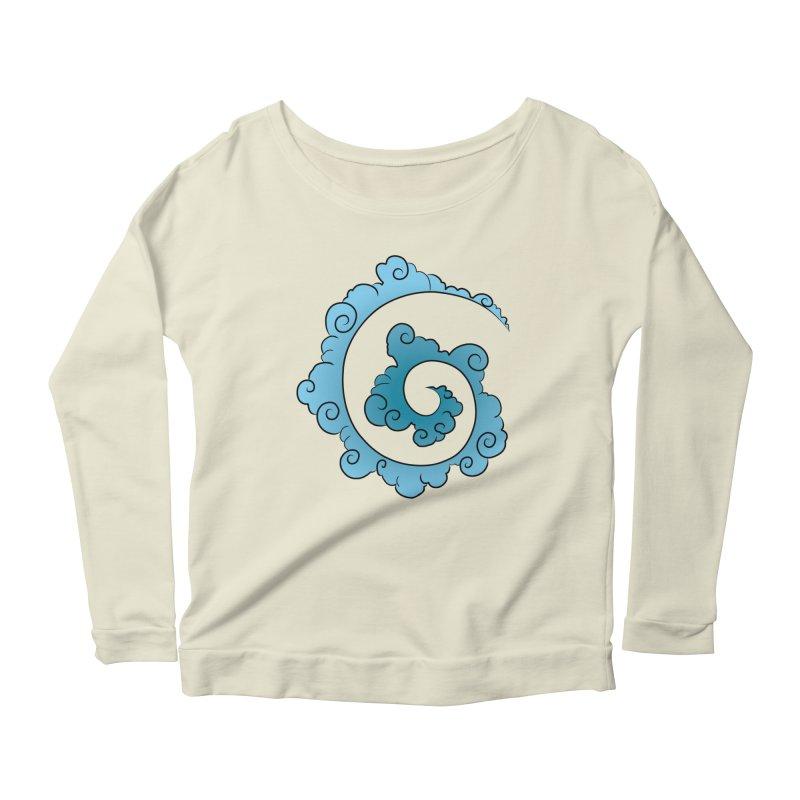 Cloud Spiral Women's Longsleeve Scoopneck  by Natou's Artist Shop