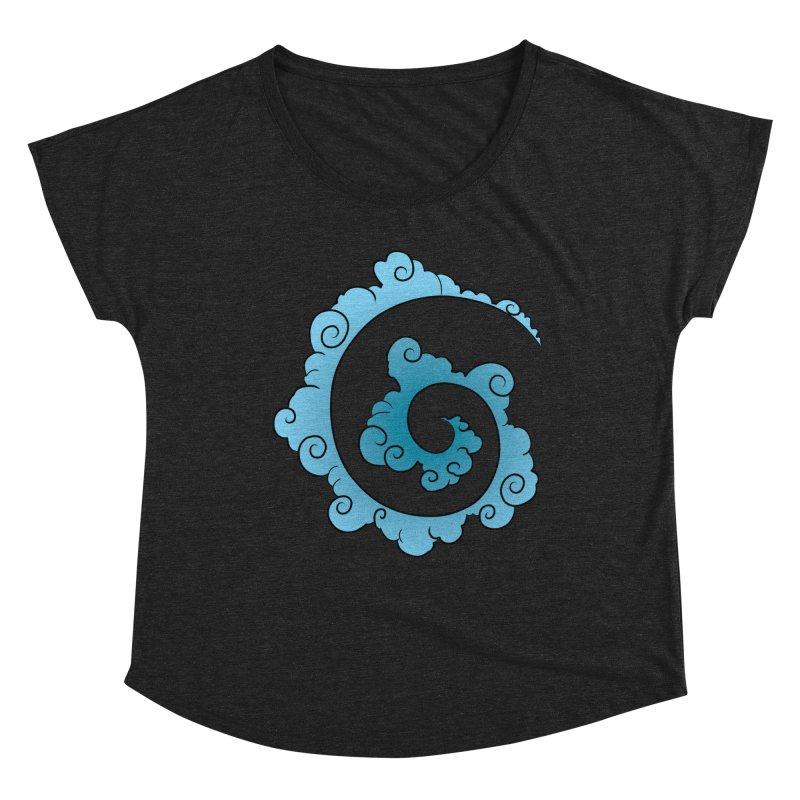 Cloud Spiral Women's Dolman Scoop Neck by Natou's Artist Shop