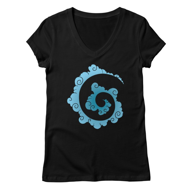 Cloud Spiral Women's V-Neck by Natou's Artist Shop