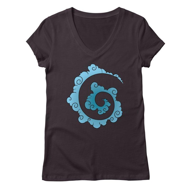 Cloud Spiral Women's Regular V-Neck by Natou's Artist Shop