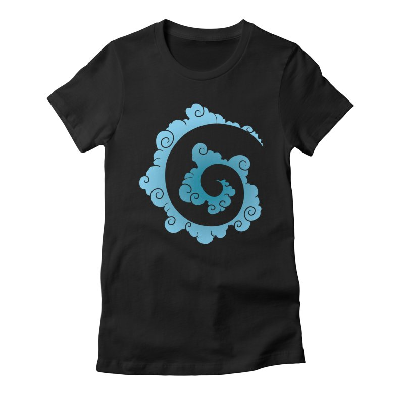 Cloud Spiral Women's T-Shirt by Natou's Artist Shop