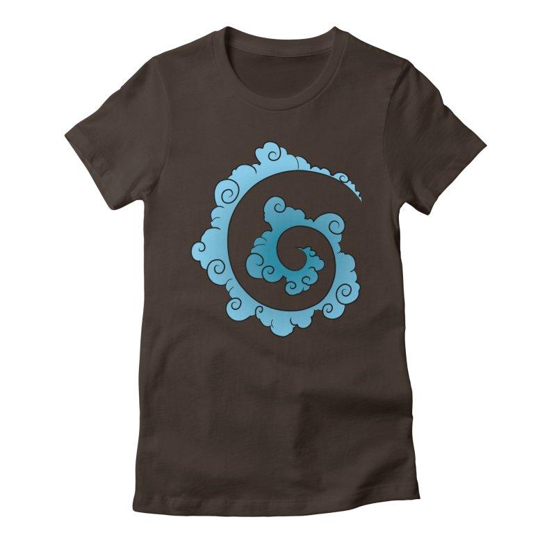 Cloud Spiral Women's Fitted T-Shirt by Natou's Artist Shop