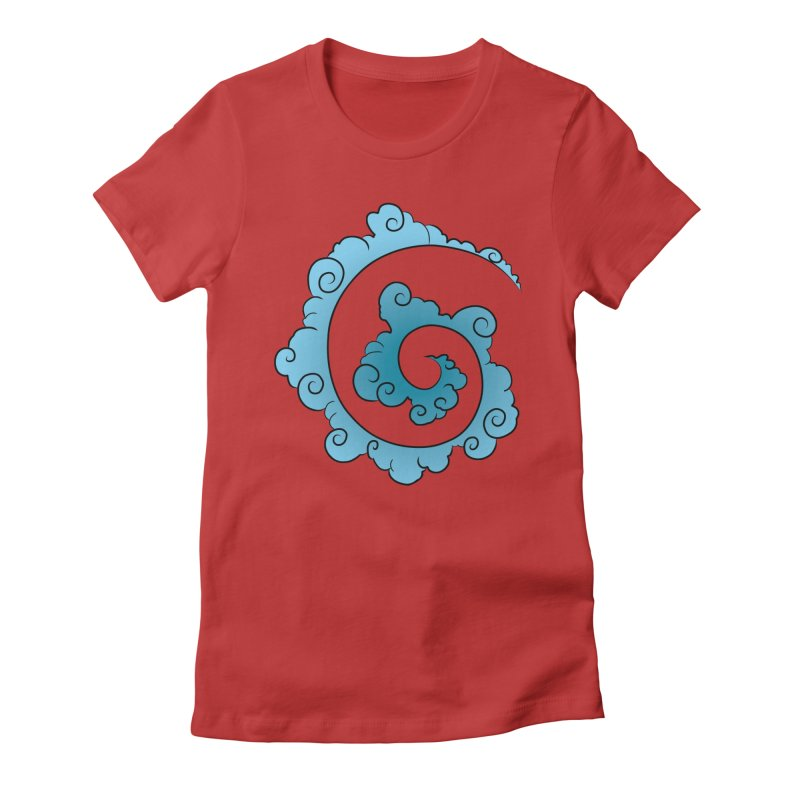 Cloud Spiral Women's Fitted T-Shirt by Natou's Artist Shop