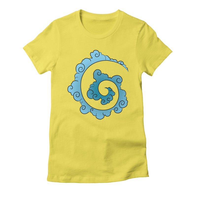 Cloud Spiral Women's T-Shirt by Natou's Artist Shop