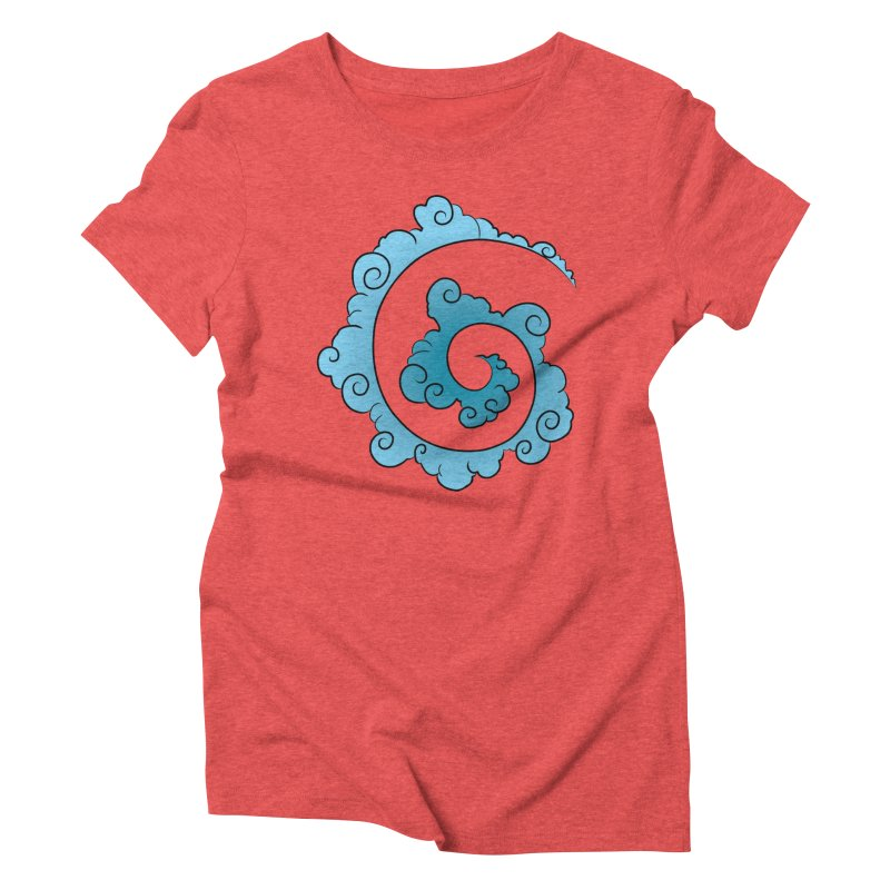 Cloud Spiral Women's Triblend T-shirt by Natou's Artist Shop