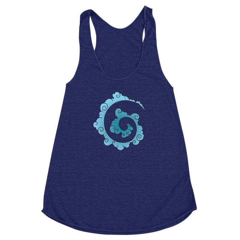 Cloud Spiral Women's Racerback Triblend Tank by Natou's Artist Shop