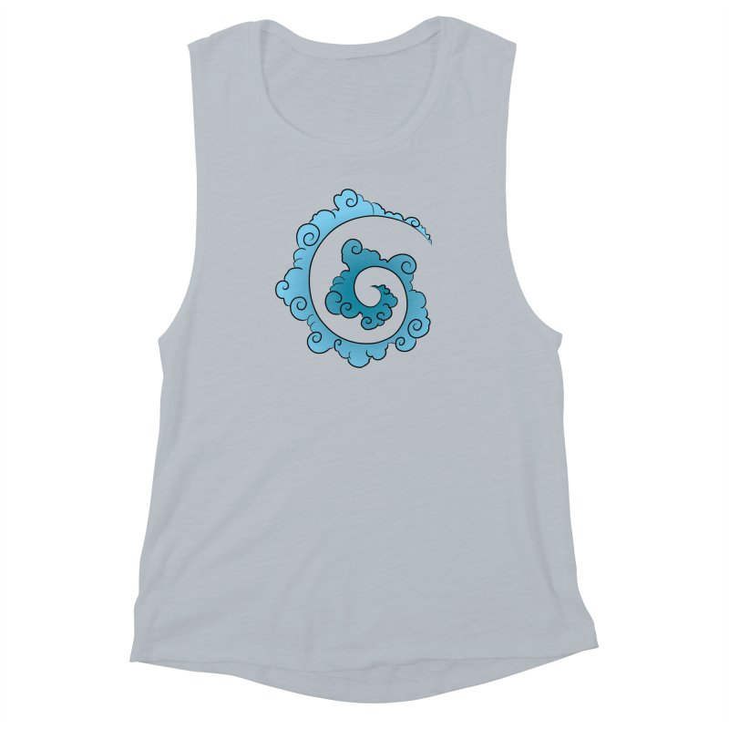 Cloud Spiral Women's Muscle Tank by Natou's Artist Shop