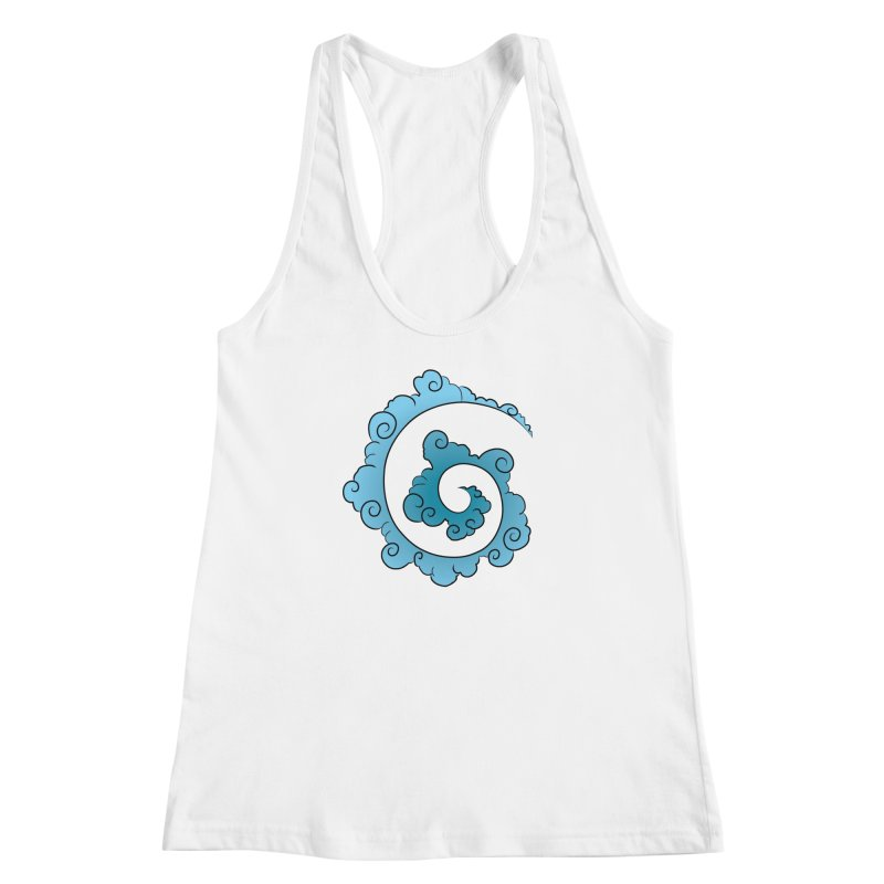 Cloud Spiral Women's Racerback Tank by Natou's Artist Shop
