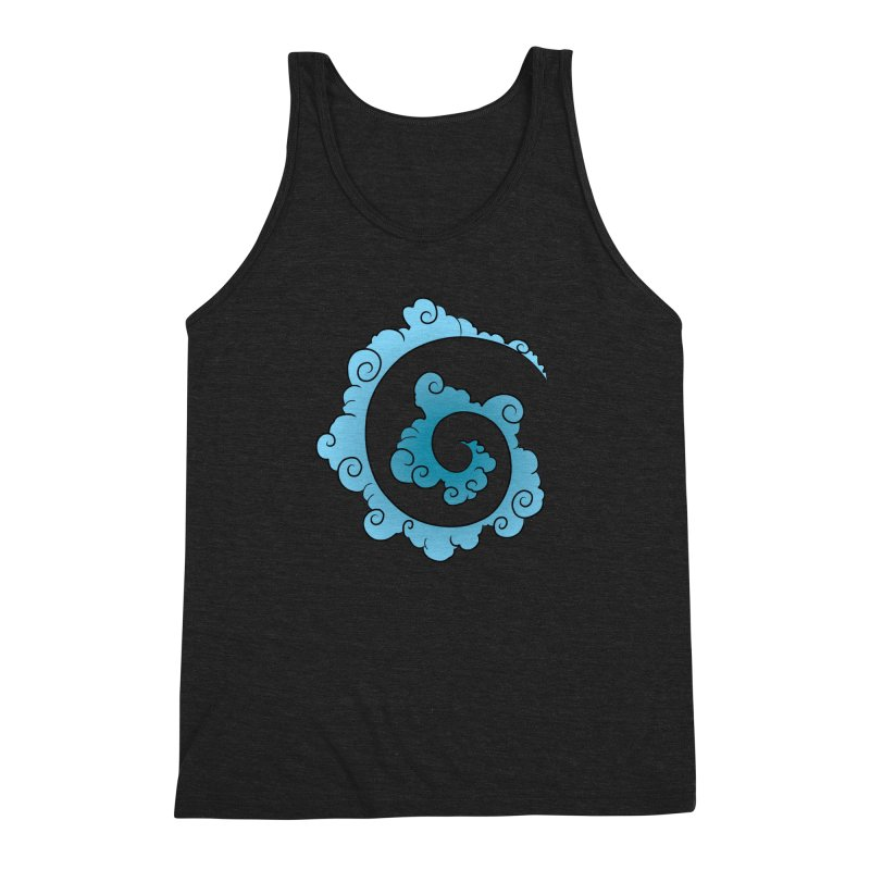 Cloud Spiral Men's Triblend Tank by Natou's Artist Shop