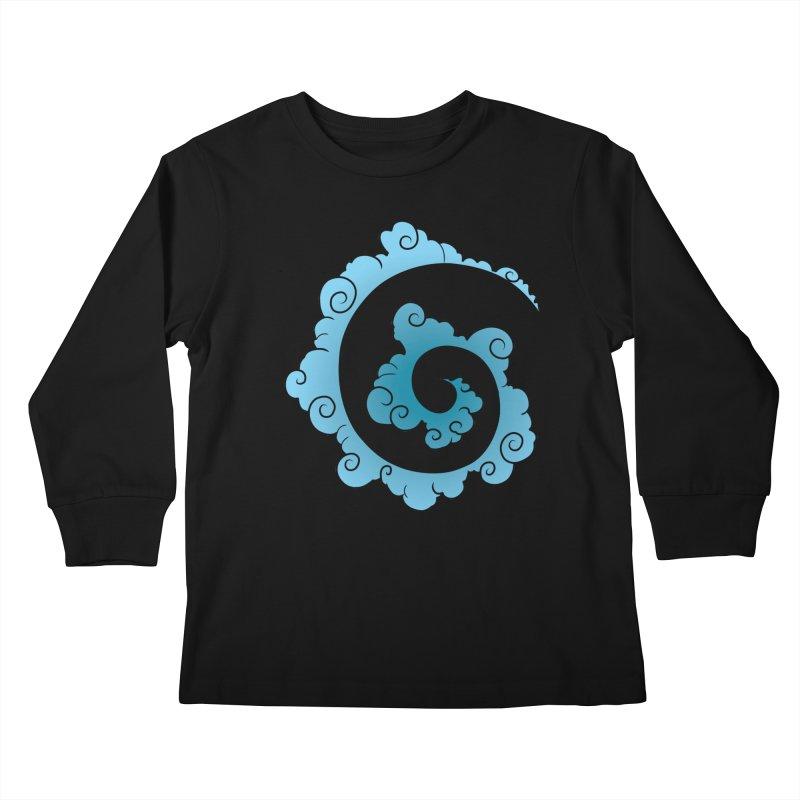 Cloud Spiral Kids Longsleeve T-Shirt by Natou's Artist Shop
