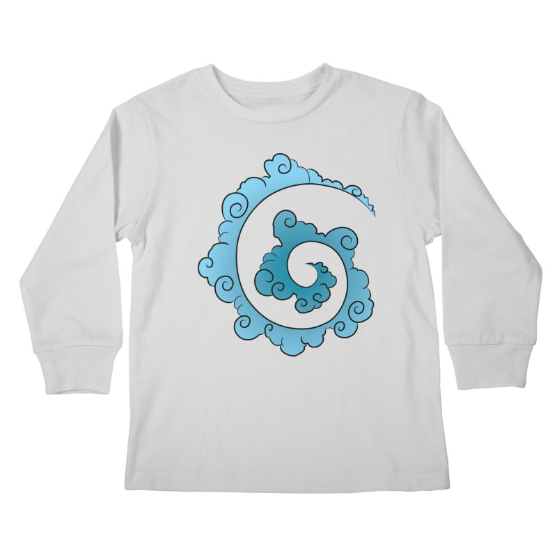 Cloud Spiral Kids Longsleeve T-Shirt by Natou's Artist Shop
