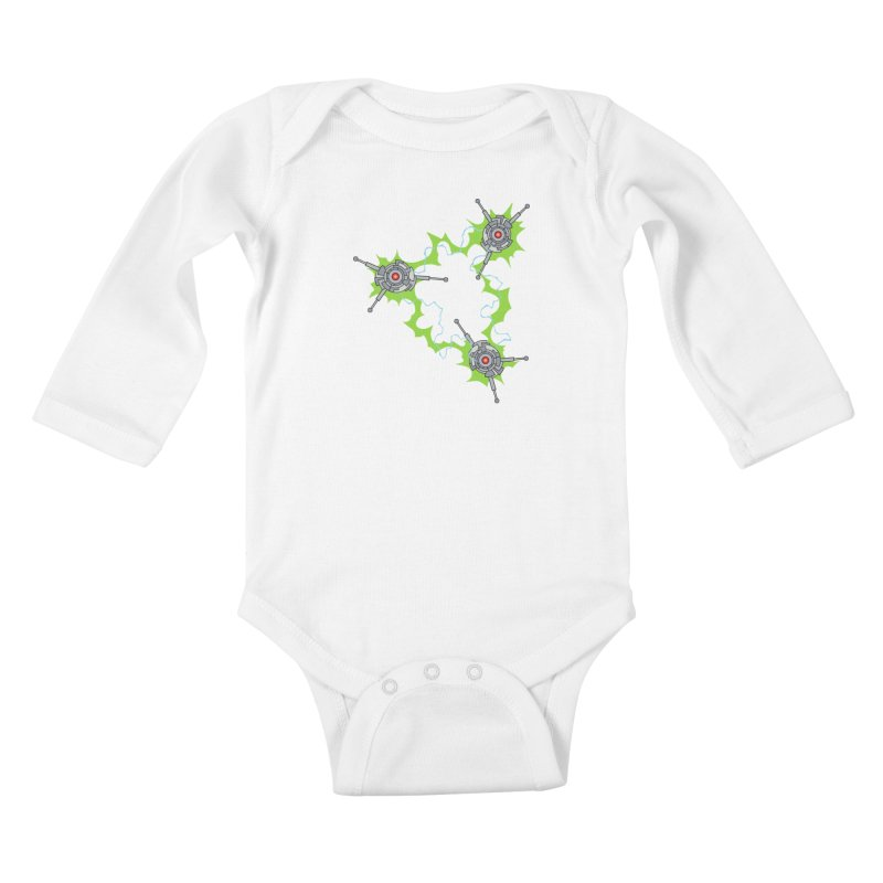 Electric Trinity Kids Baby Longsleeve Bodysuit by Natou's Artist Shop
