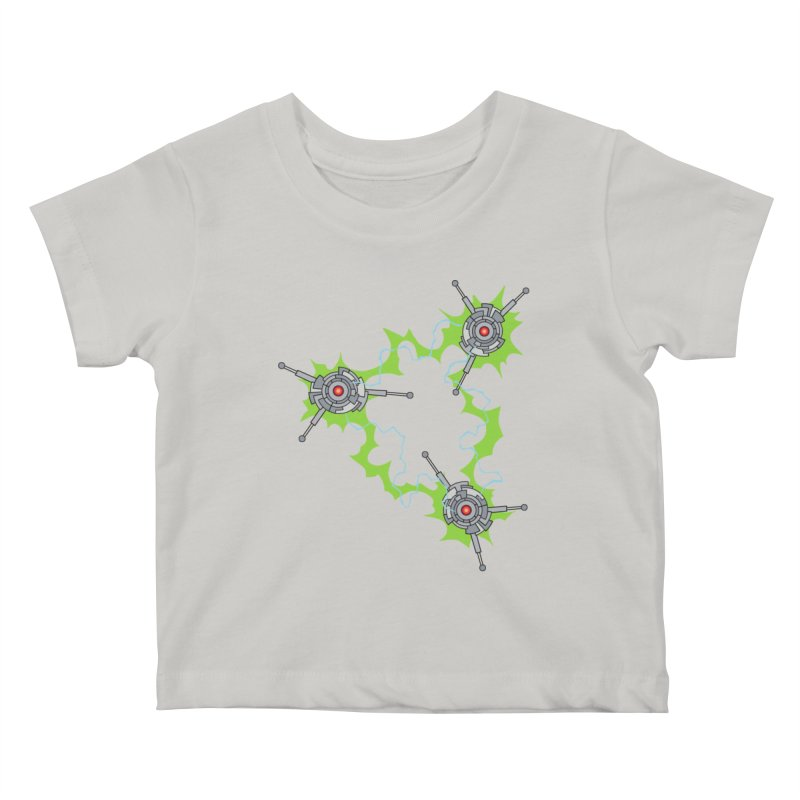 Electric Trinity Kids Baby T-Shirt by Natou's Artist Shop