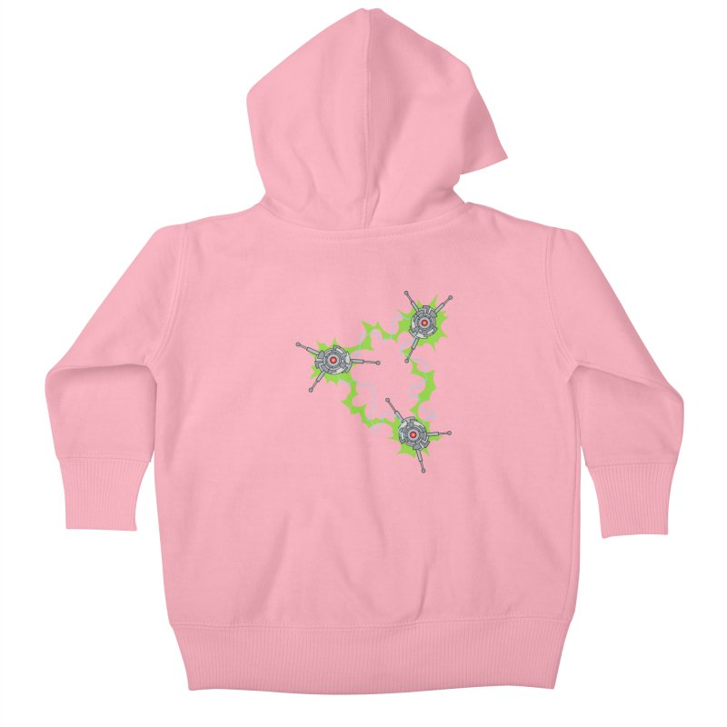 Electric Trinity Kids Baby Zip-Up Hoody by Natou's Artist Shop