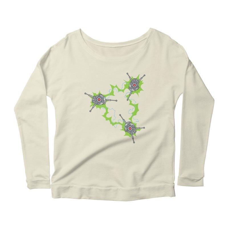 Electric Trinity Women's Scoop Neck Longsleeve T-Shirt by Natou's Artist Shop