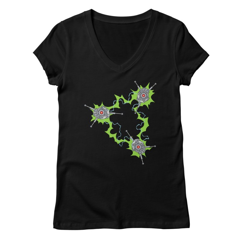 Electric Trinity Women's Regular V-Neck by Natou's Artist Shop