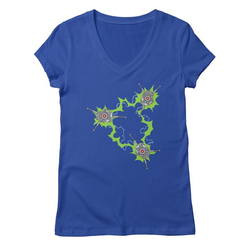 Electric Trinity Women's V-Neck by Natou's Artist Shop