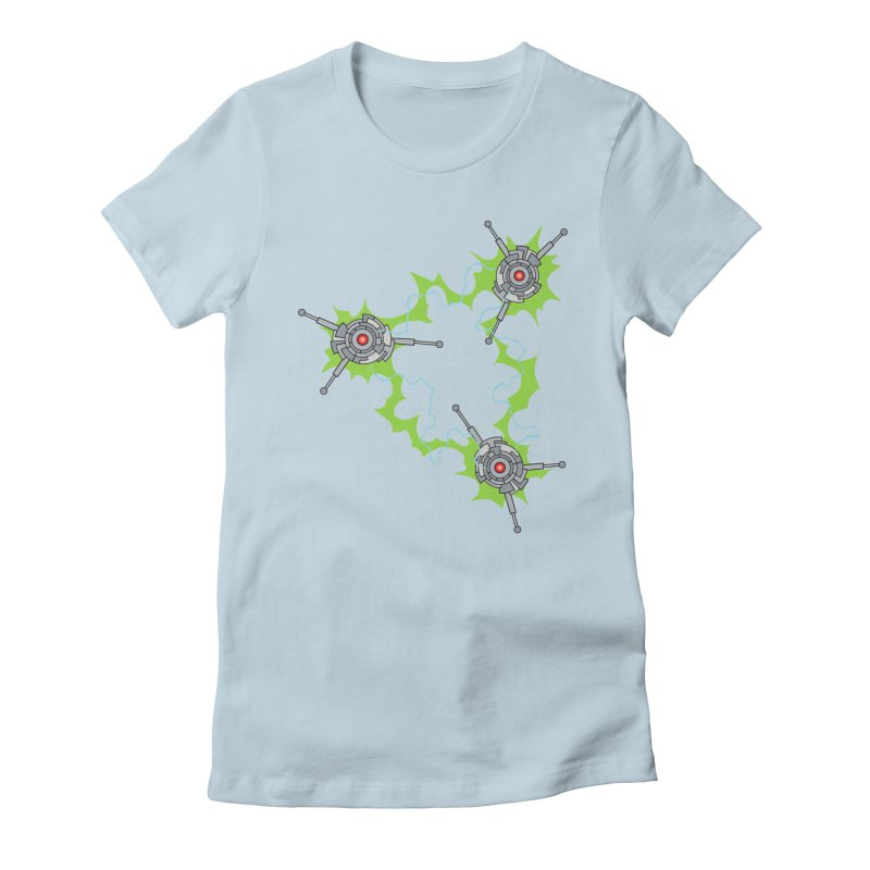 Electric Trinity Women's Fitted T-Shirt by Natou's Artist Shop