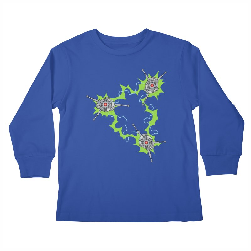 Electric Trinity Kids Longsleeve T-Shirt by Natou's Artist Shop