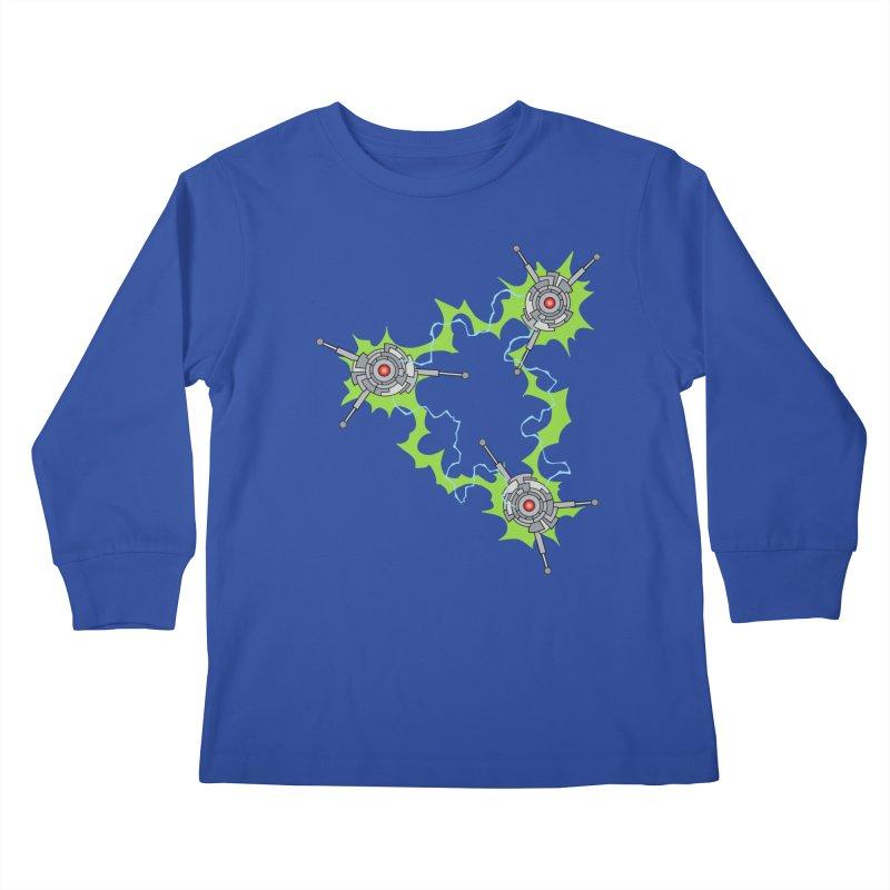 Electric Trinity Kids Longsleeve T-Shirt by Natou's Artist Shop