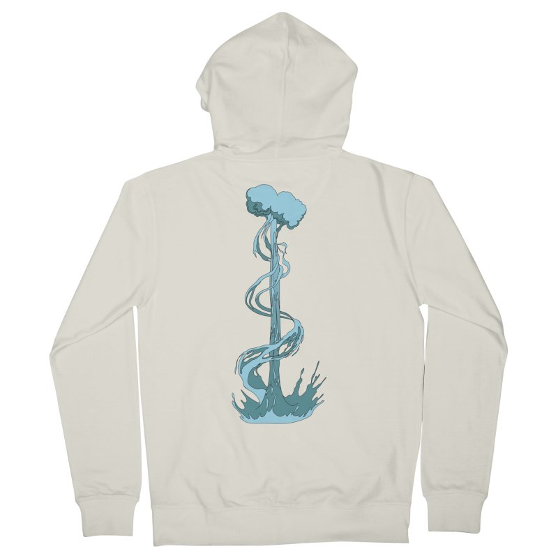 Water Blast Men's French Terry Zip-Up Hoody by Natou's Artist Shop
