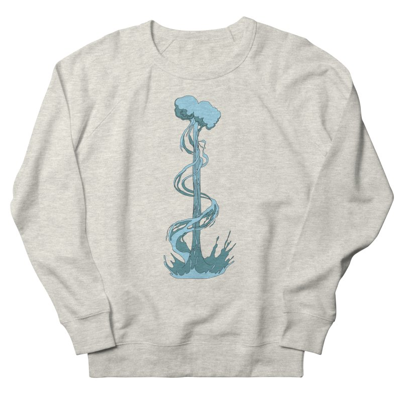 Water Blast Men's French Terry Sweatshirt by Natou's Artist Shop