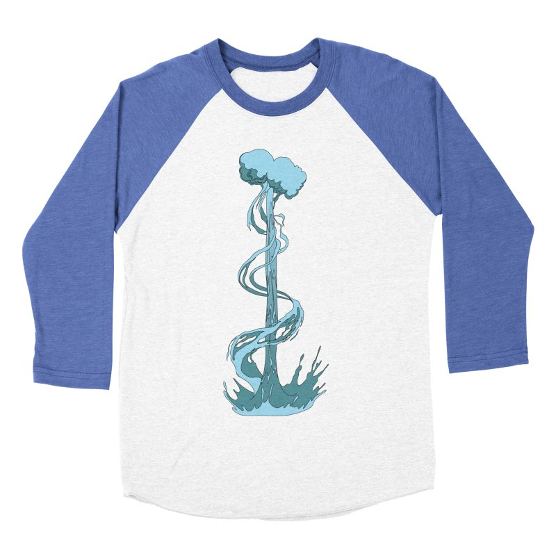 Water Blast Women's Baseball Triblend T-Shirt by Natou's Artist Shop