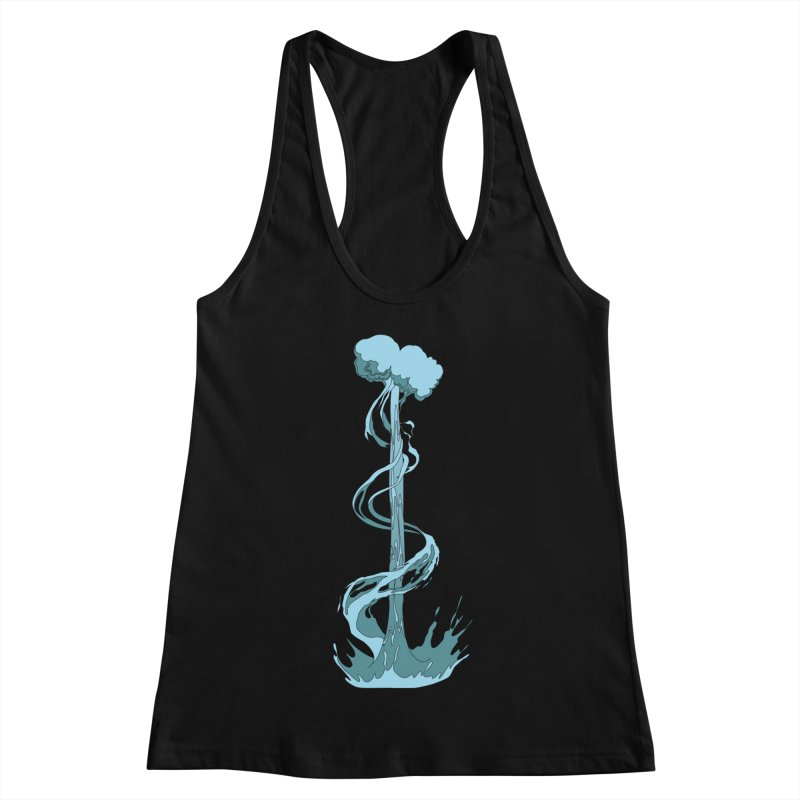 Water Blast Women's Racerback Tank by Natou's Artist Shop