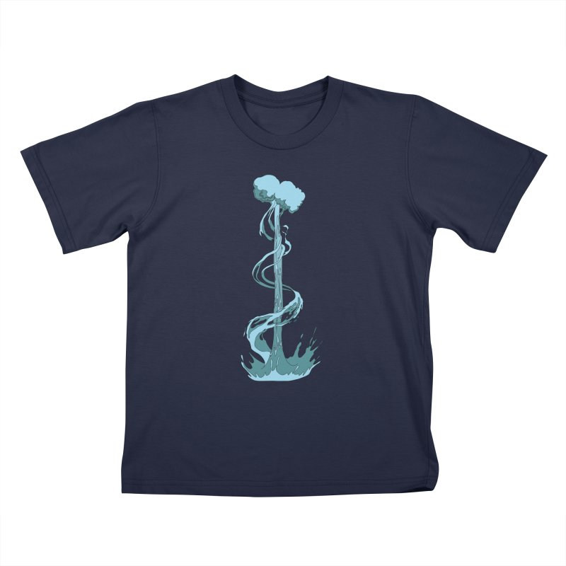 Water Blast Kids T-Shirt by Natou's Artist Shop