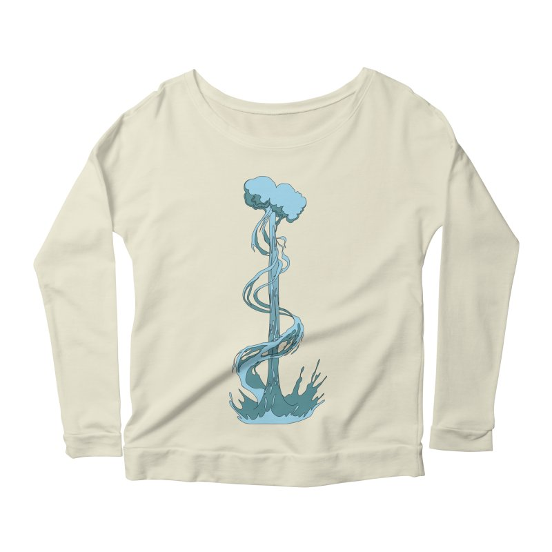 Water Blast Women's Scoop Neck Longsleeve T-Shirt by Natou's Artist Shop