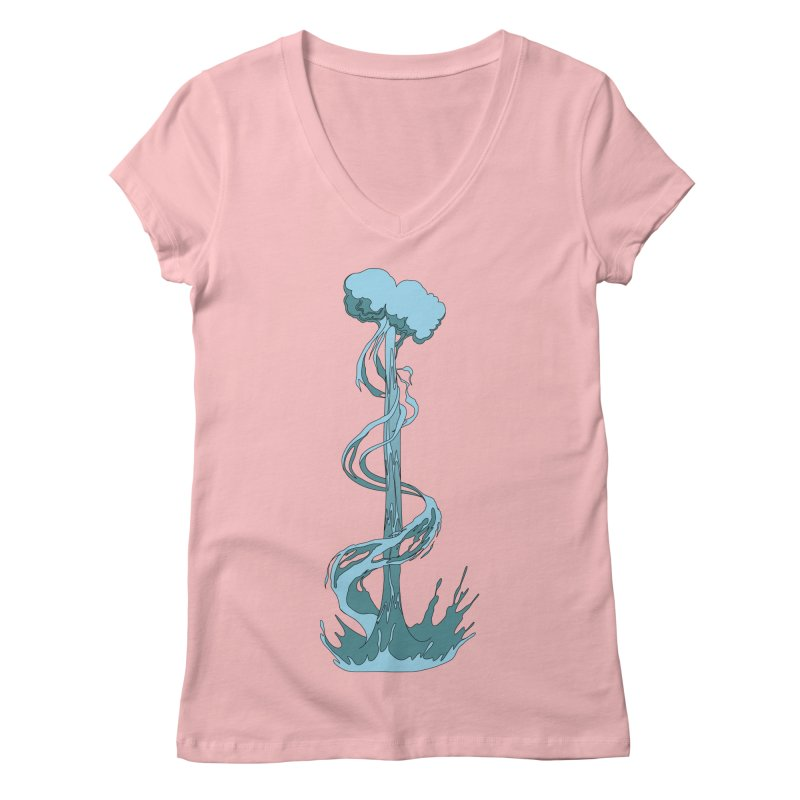 Water Blast Women's Regular V-Neck by Natou's Artist Shop
