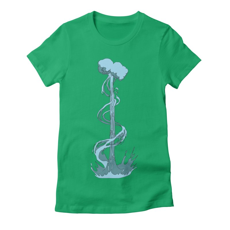 Water Blast Women's Fitted T-Shirt by Natou's Artist Shop